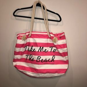 NWOT Victoria's Secret Striped Beach Bag